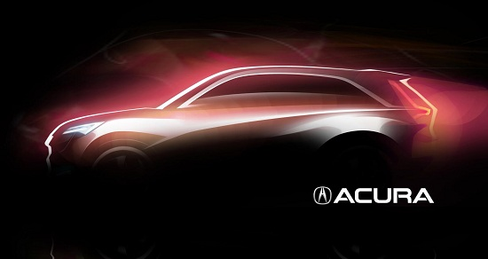 Acura concept teaser for 2013 Auto Shanghai