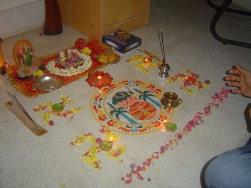 How to start the diwali puja?