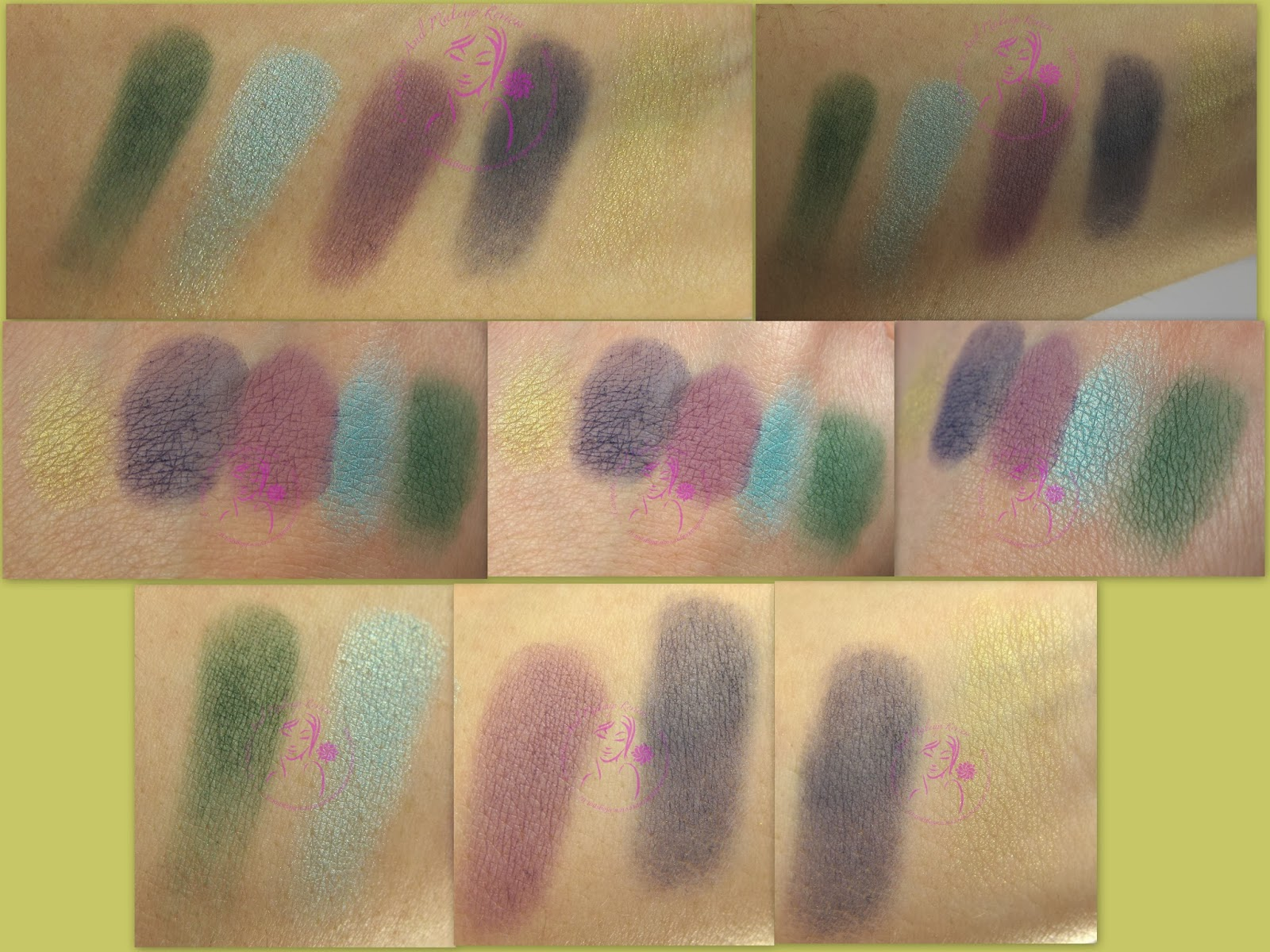 Labo Make-up - Palette 5 Ombretti n° 01 - Peacock/Pavone - swatches