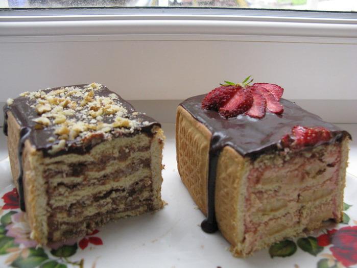 торт без выпечки из печенья с фото