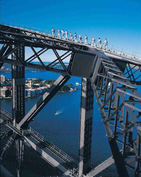 caminhada na Harbour Bridge, em Sidney