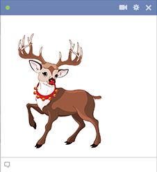 Rudolph the reindeer sticker