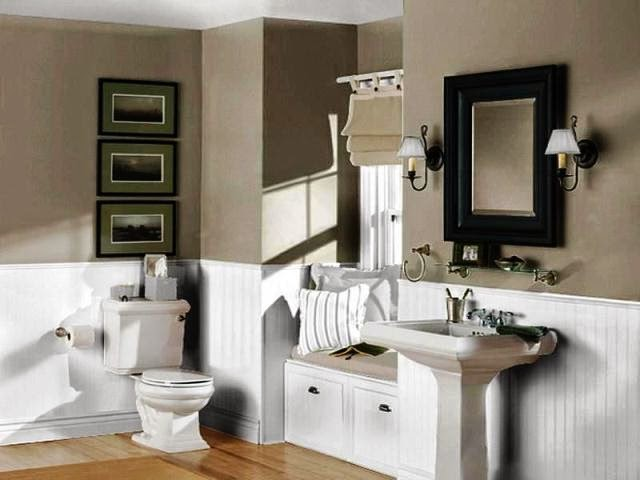 Wall paint colors for bathroom for Bathroom ideas painting