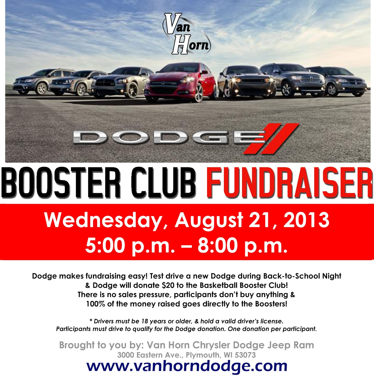 Everyone in the community is invited to come out to test drive the 2013 dodge dart durango journey and grand caravan for each brief test drive taken