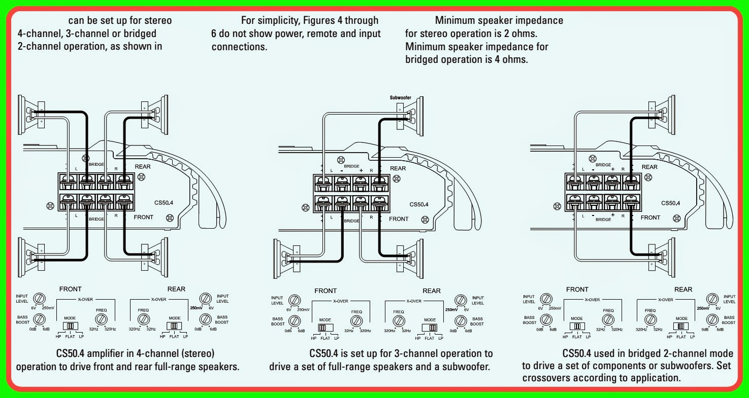 Charming Wiring 3 Speakers To A 2 Channel Amp Diagram Ideas ...