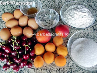 Prajitura cu fructe ingrediente reteta