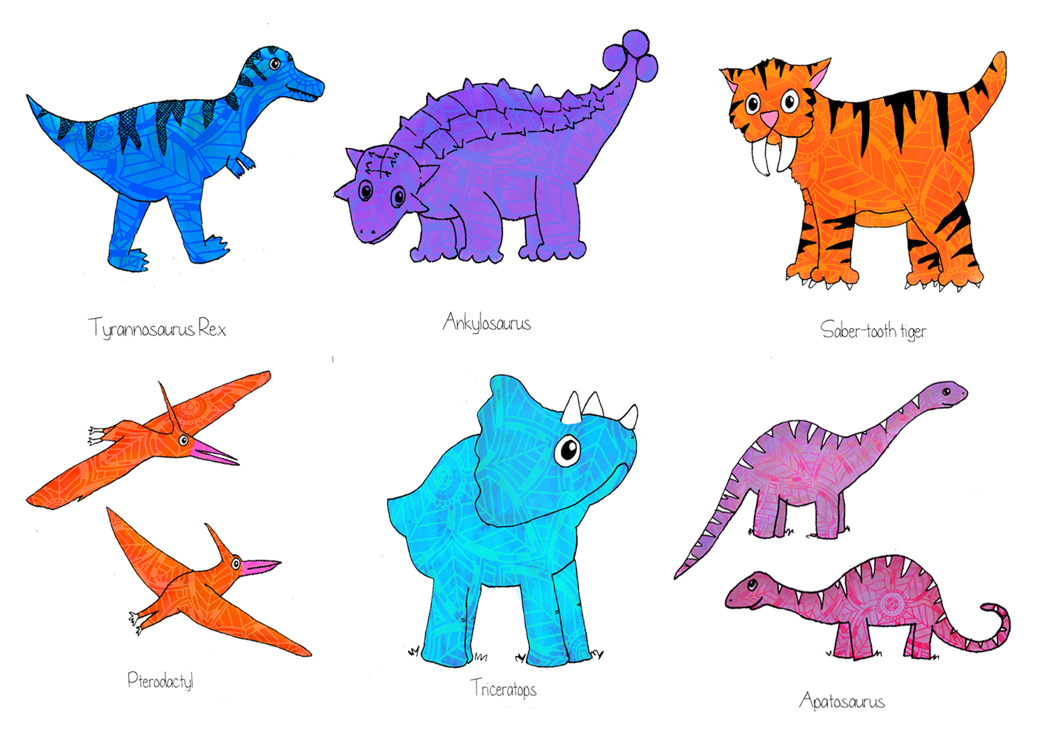 M Named Dinosaurs THE ART OF ZOZ: The Di...