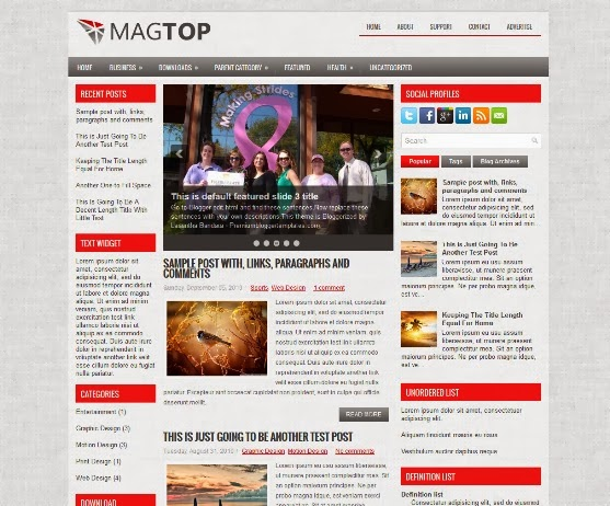 MagTop Blogger Template