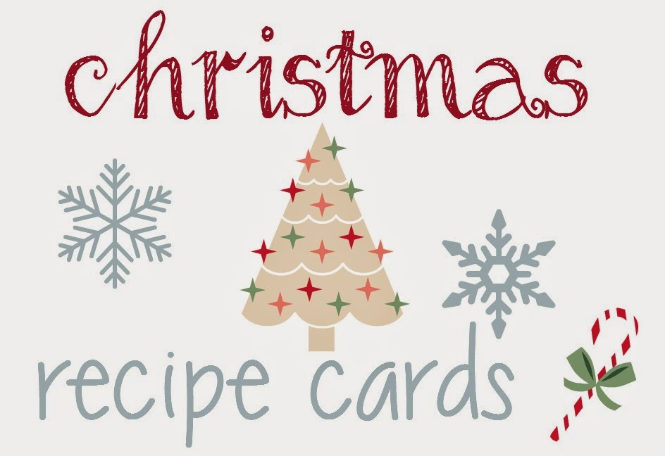 FREE Christmas Recipe Cards An MTM Must Have