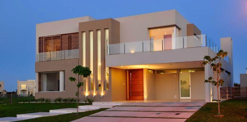Construindo minha casa clean 30 fachadas de casas for Ideas para casas modernas