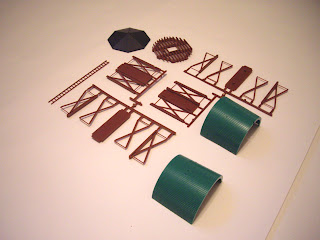 Unpainted Atlas Water Tower kit pieces