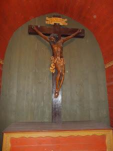 """Statue of christ in """"Holy Cross Chapel"""" in Wieliczka salt mines."""