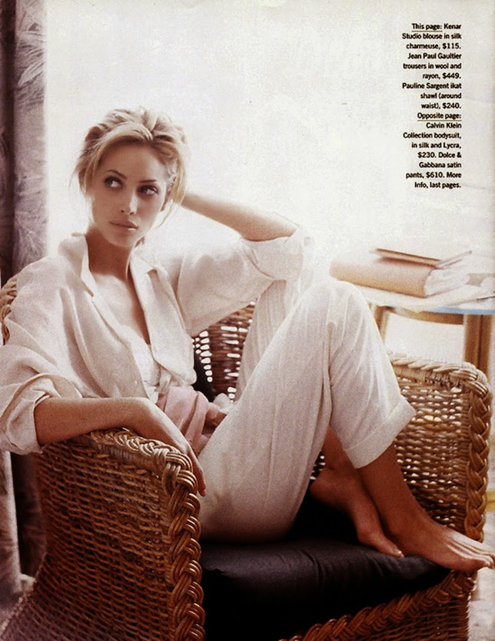 Christy Turlington -Summer in Style- photographed by Pamela Hanson, July 1992