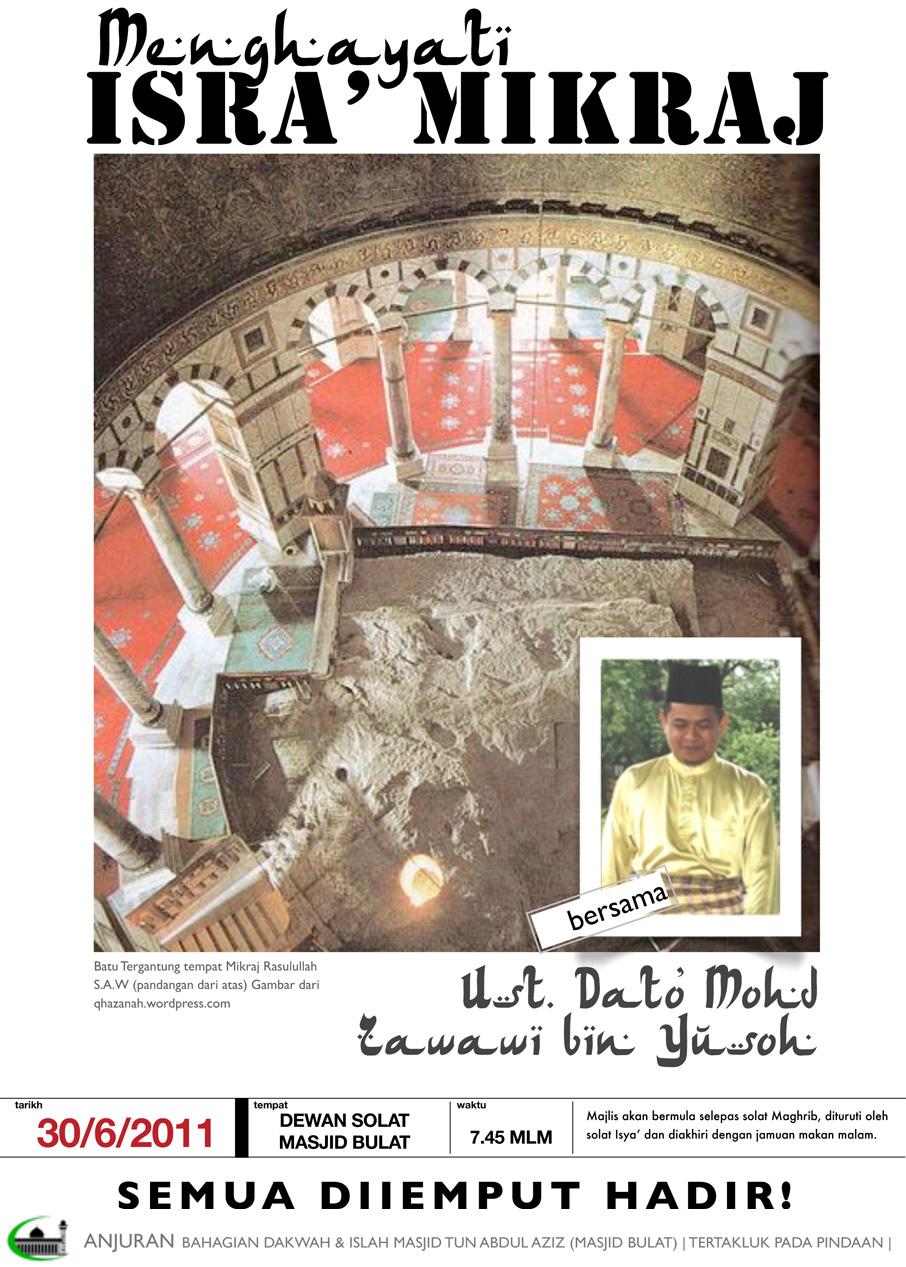 Bicara Masjid Bulat: Dato' Mohd Zawawi bin Yusoh www.mymaktabaty.com