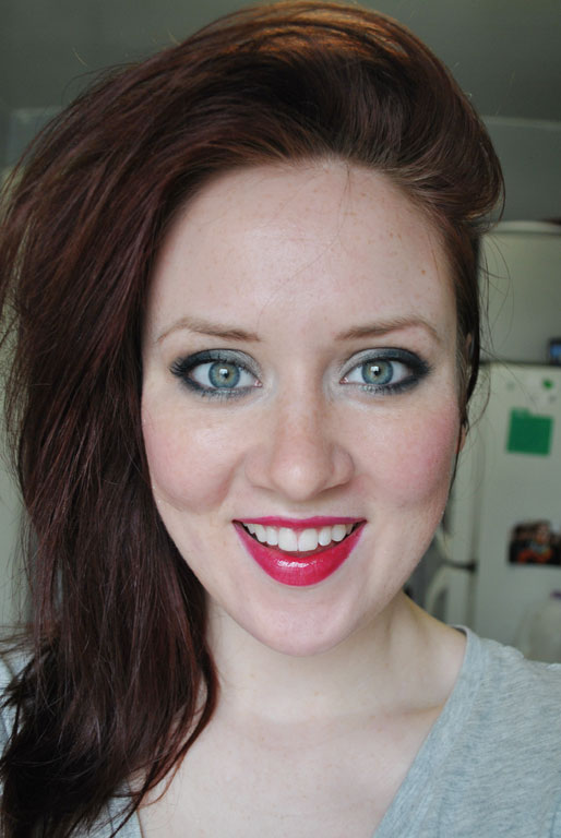 a style of your own blog, mollie booth parks, green smoky eyes, obsessive compulsive lip tar