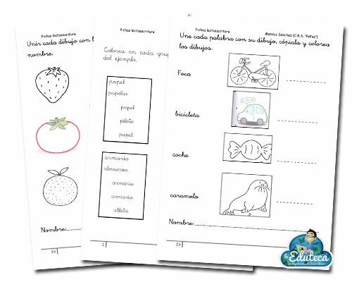 RECURSOS INFANTIL | Cuadernillo de fichas de lectoescritura (5 años ...