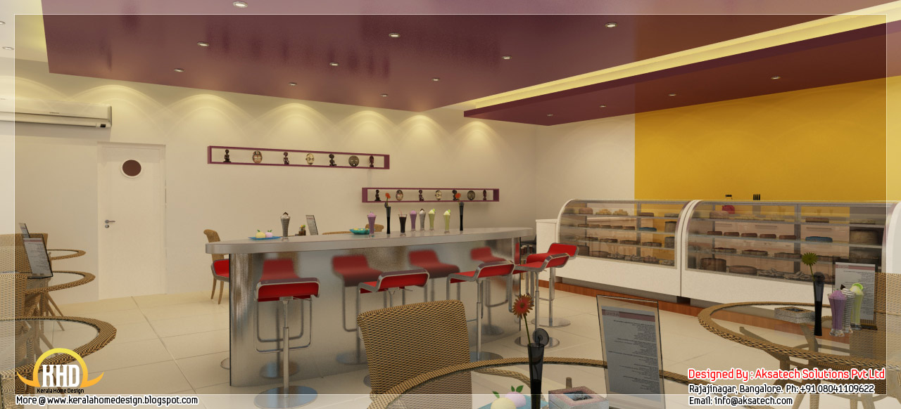Interior design ideas for office and restaurants kerala for Indian restaurant interior design ideas