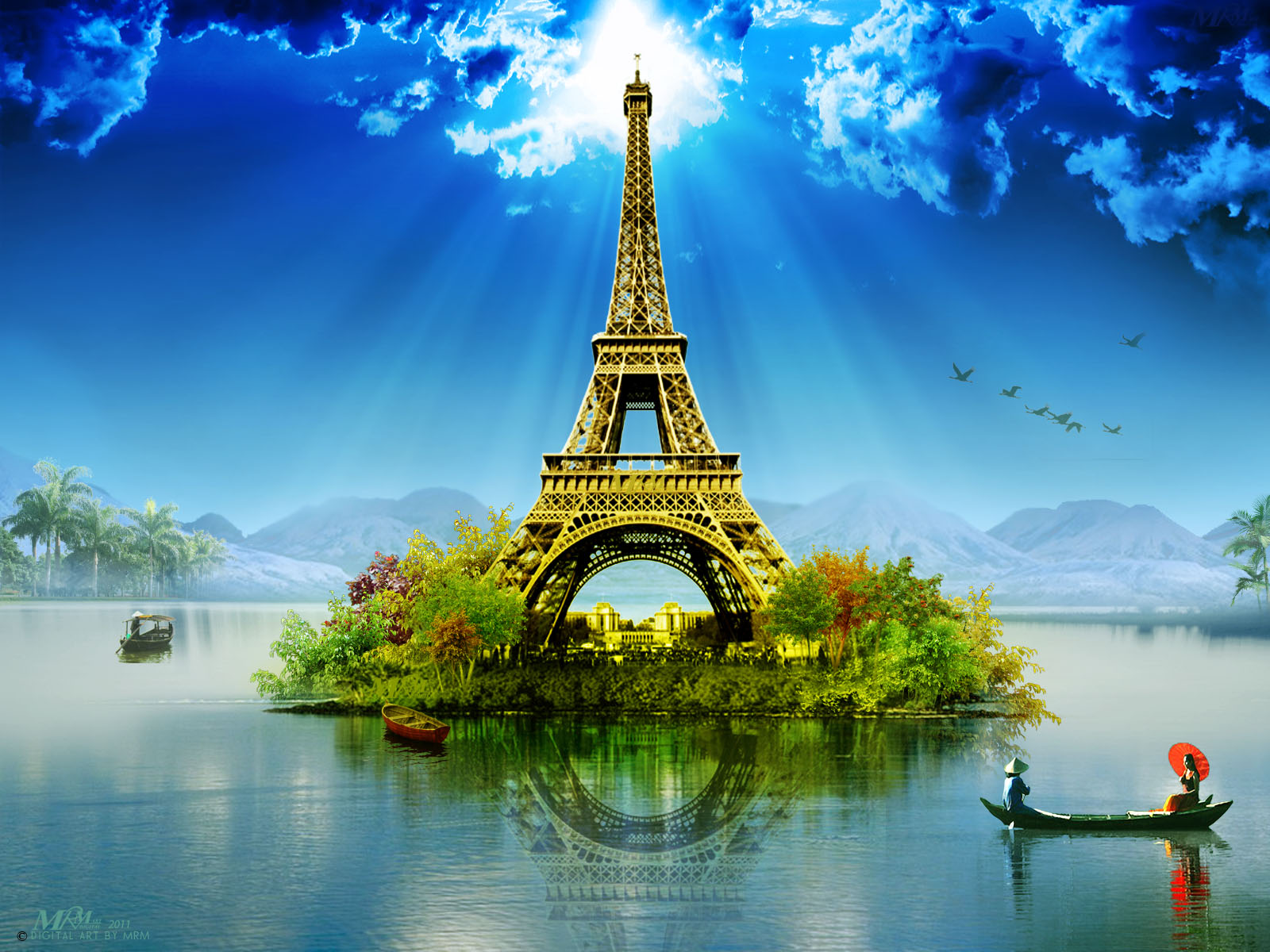 PZ C: eiffel tower wallpaper