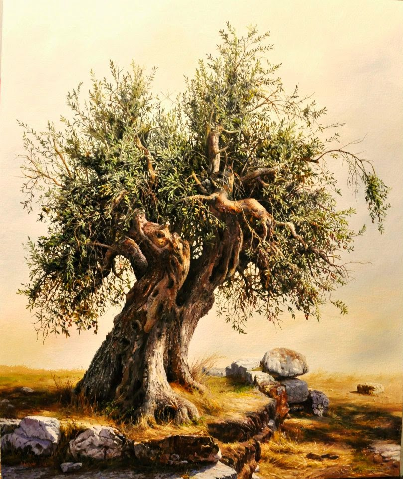 Realistic tree painting images for How to paint a tree