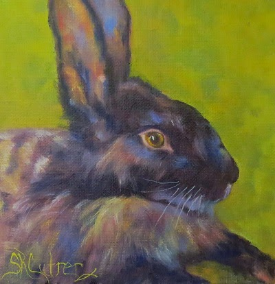 """Lucky Peter"", a rabbit in oils"
