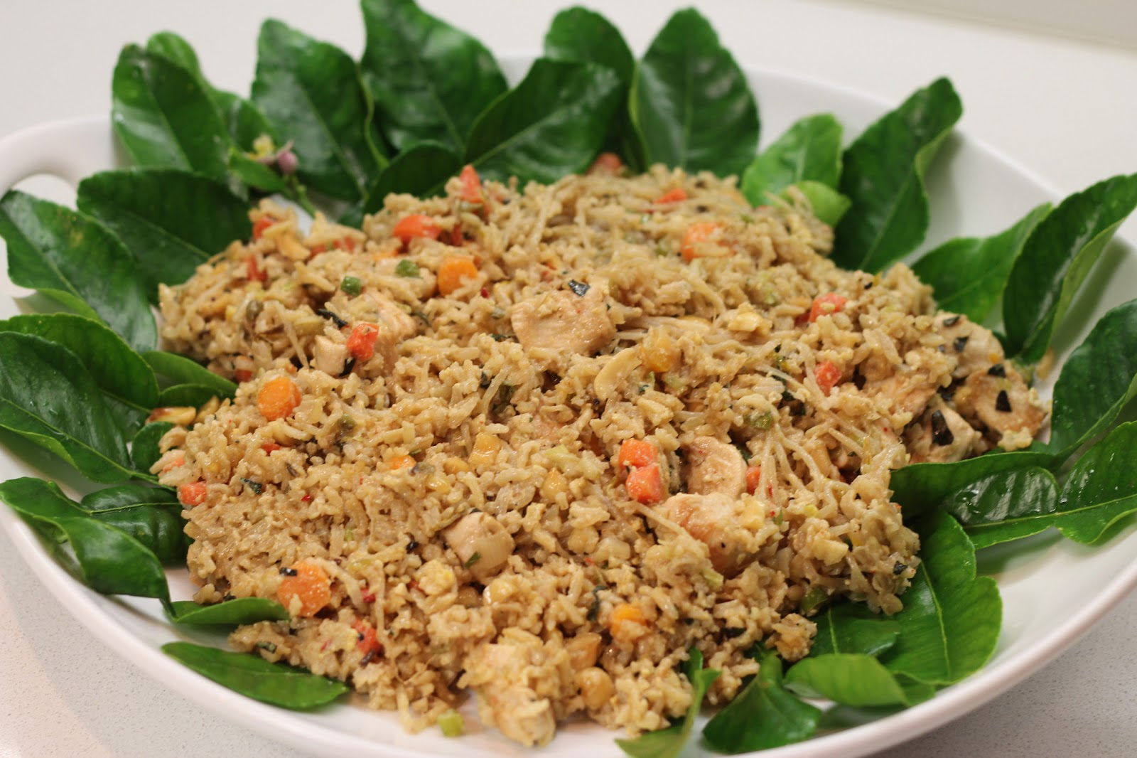 ... Kitchen: SPICY FRIED RICE WITH BEAN SPROUTS, CHICKEN, AND PEANUTS