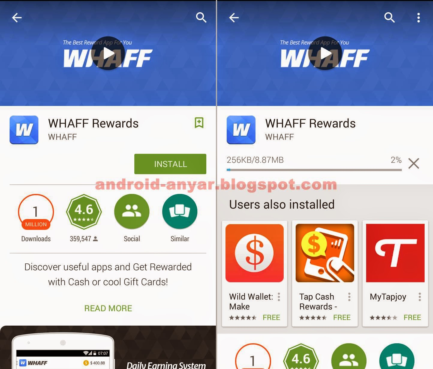 Cara download WHAFF di Android