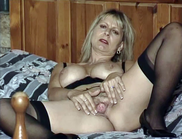 Mom in pantyhose home alone