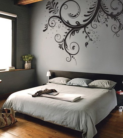 bedroom ideas bedroom wall decal ideas bedroom ideas epic bedroom wall decal idea showing white floral tendrils