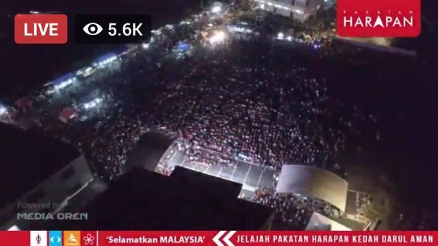 PAKATAN BIGGEST CROWD EVERYWHERE PROVEN IT'S ACCEPTED BY ALL WITH D LEADERSHIP OF MAHTHIR !
