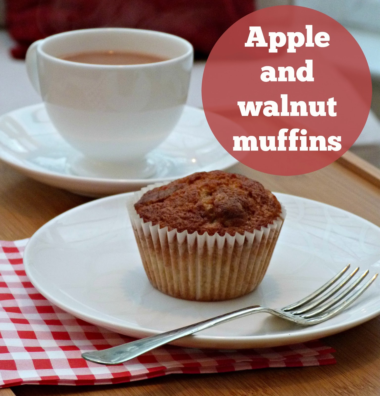 Apple and walnut muffins