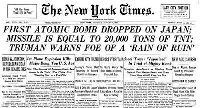 La primera bomba atómica lanzada sobre Japón