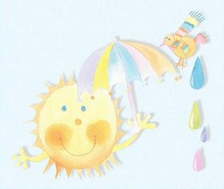 El sol con grandes mofletes