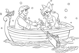ariel and the prince coloring pages