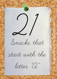 letter A snacks, food starts with A, preschool lesson
