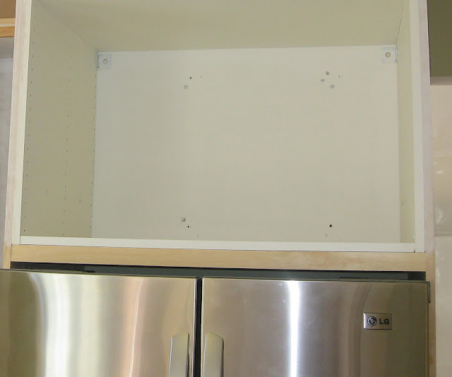 LG french door refrigerator enclosed