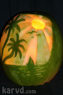 Sunset Watermelon Carving by Karvd.