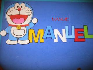 Fondo del letrero de Doraemon