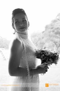 Detalhe do Vestido de casamento em Crochê
