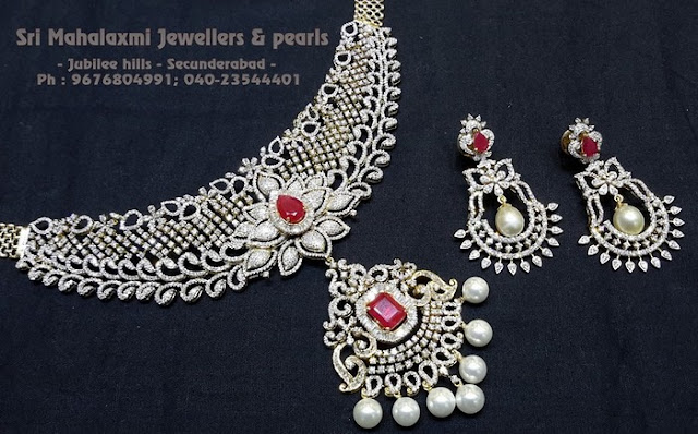 Diamond Necklace Chandbalis by SMJ