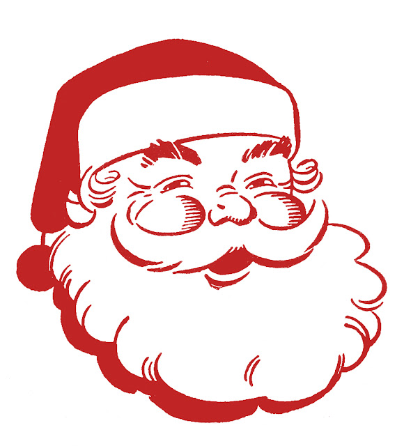 christmas clipart Christmas Santa Retro pictures