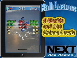 Ball Busters iOS game - a pong style game with a twist