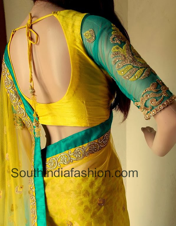 Yellow Blouse Designs 53