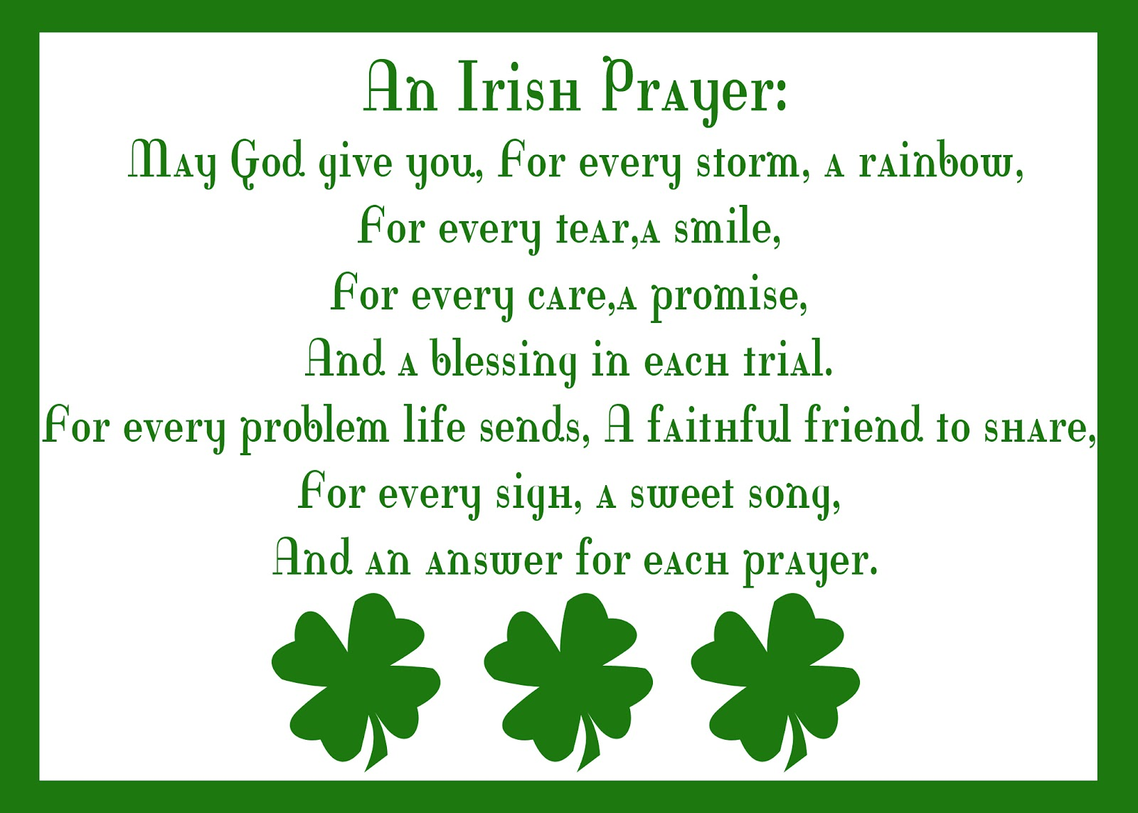 Irish Quotes And Prayers. QuotesGram Prayer Quotes For Love