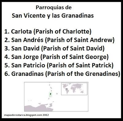 San Vicente y las Granadinas , organización territorial
