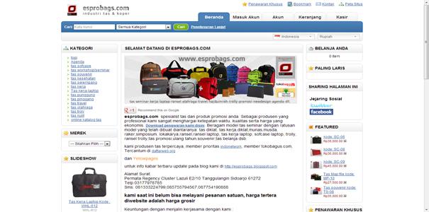 jual tas murah, polisi online