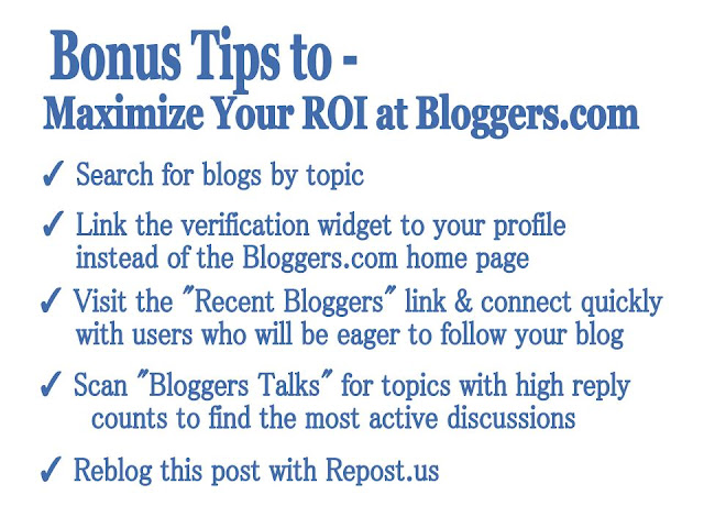 Bloggers.com Bonus Tips