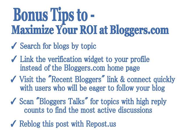 Bloggers.com Bonus Tips