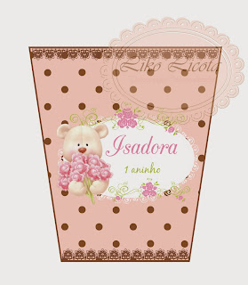 rótulo personalizado para bisnaga rosa e marrom