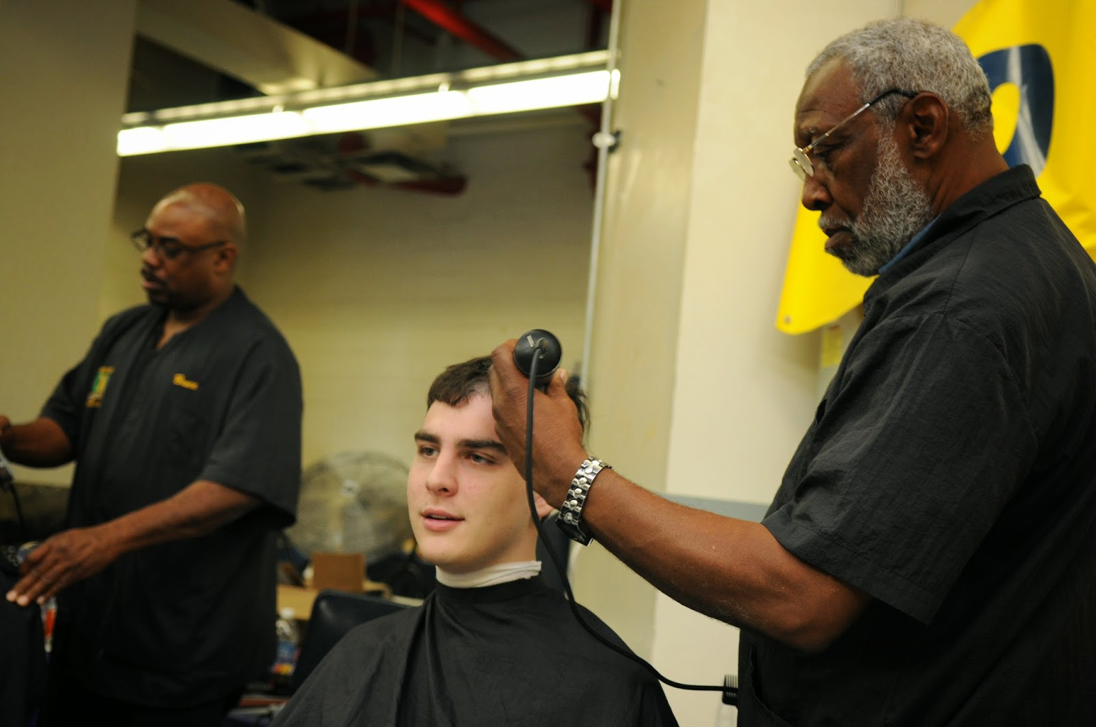 Naval Academy barber Ernest