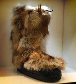 Furry moon boots from Chloe at Scoop NYC.